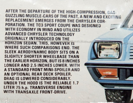 Okay, if you say so! This is a very odd bit of write-up. It's informative, but very much an indictment of anyone who liked muscle cars. Talk about a product of its times!